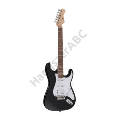 SOUNDSATION RIDER-PRO-RSH BK - Double cutaway electric guitar with 2 single coils + splittable humbucker and self-locking tuners (Wilkinson equipped, eco-rosewood fretboard)