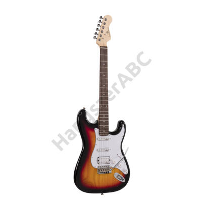 SOUNDSATION RIDER-PRO-RSH 3TS - Double cutaway electric guitar with 2 single coils + splittable humbucker and self-locking tuners (Wilkinson equipped, eco-rosewood fretboard)