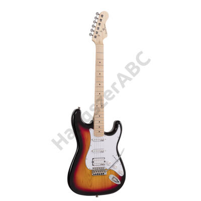 SOUNDSATION RIDER-PRO-MSH 3TS - Double cutaway electric guitar with 2 single coils + splittable humbucker and self-locking tuners (Wilkinson equipped, maple fretboard)