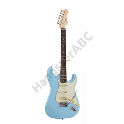 SOUNDSATION RIDER-RETRO-R DB - Double cutaway electric guitar with 3 single coils and vintage tuners (Wilkinson equipped, eco-rosewood fretboard)