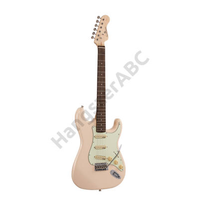 SOUNDSATION RIDER-RETRO-R SW - Double cutaway electric guitar with 3 single coils and vintage tuners (Wilkinson equipped, eco-rosewood fretboard)