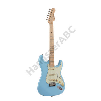 SOUNDSATION RIDER-RETRO-M DB - Double cutaway electric guitar with 3 single coils and vintage tuners (Wilkinson equipped, maple fretboard)
