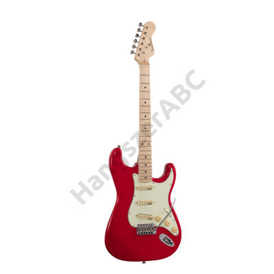 SOUNDSATION RIDER-RETRO-M FR - Double cutaway electric guitar with 3 single coils and vintage tuners (Wilkinson equipped, maple fretboard)