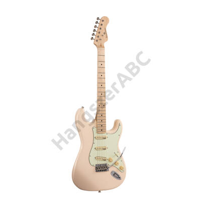 SOUNDSATION RIDER-RETRO-M SW - Double cutaway electric guitar with 3 single coils and vintage tuners (Wilkinson equipped, maple fretboard)