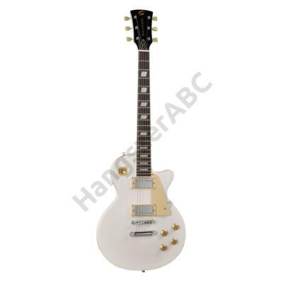SOUNDSATION MILESTONE-PRO WH - Ívelt fedlapú cutaway elektromos gitár 2 humbucker pickuppal és ragasztott nyakkal